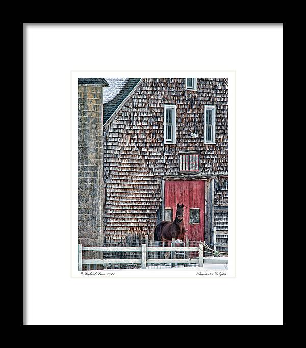 Barn Framed Print featuring the photograph Stoudwater Delight by Richard Bean