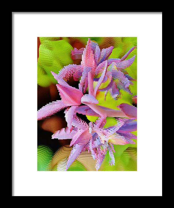 Extrude Framed Print featuring the photograph Succulent Blossom by Werner Lehmann