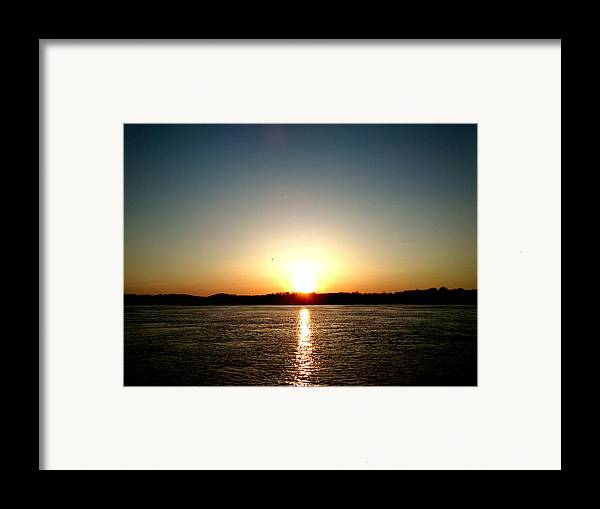 Sun Framed Print featuring the photograph Sunset by Lucy D