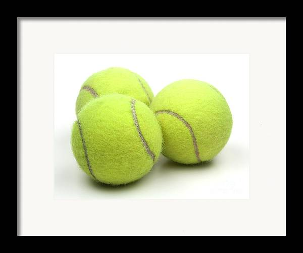 Tennis Ball Framed Print featuring the photograph Tennis Balls by Blink Images
