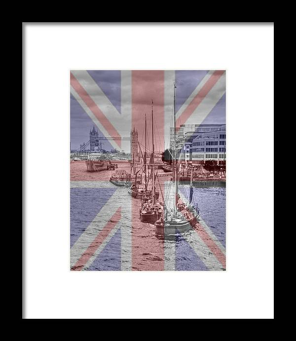 Thames Framed Print featuring the photograph Thames Barges Tower Bridge 2012 by David French