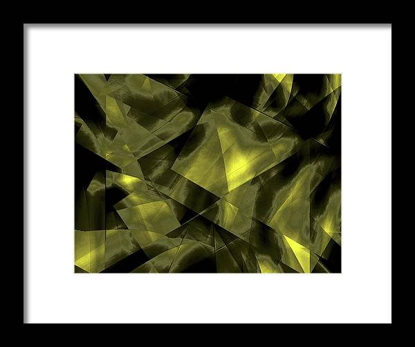 Digital Graphic Framed Print featuring the digital art Transparent Layers by Mihaela Stancu