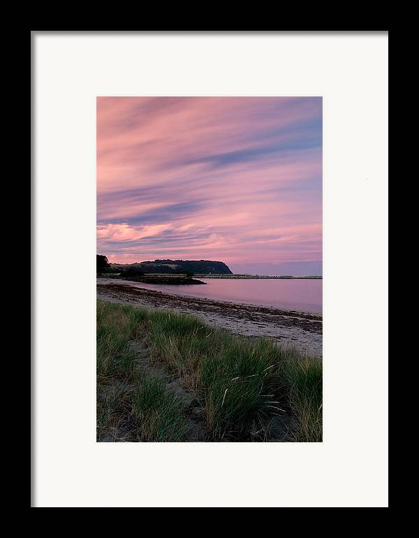 Red Framed Print featuring the photograph Twilight After A Sunset At A Beach by Ulrich Schade