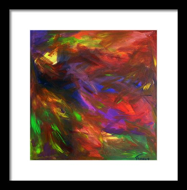 Abstract Framed Print featuring the painting Untitled by Cynthia Thomas