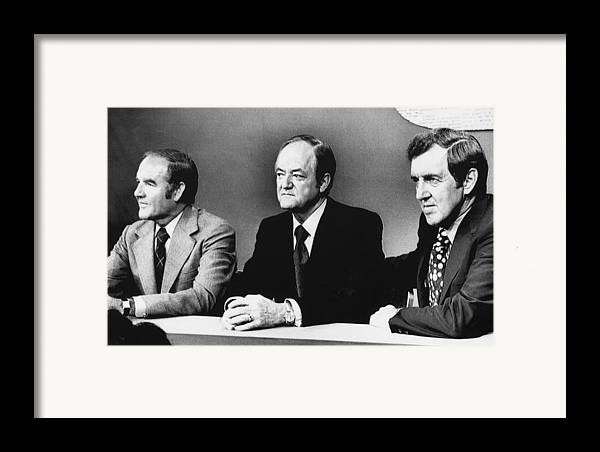 1970s Framed Print featuring the photograph Us Elections. From Left Us Senator by Everett