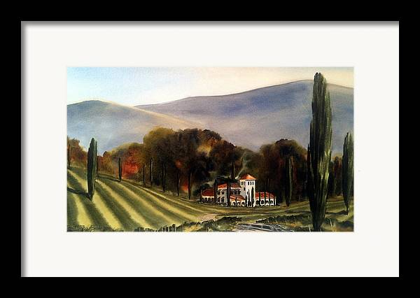 Framed Print featuring the painting Vintage Year by Don F Bradford