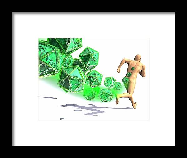 Illustration Framed Print featuring the photograph Viral Infection, Conceptual Artwork by Laguna Design