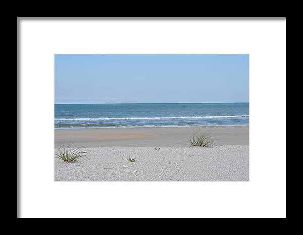 Beach Framed Print featuring the photograph 2 With A View by Tiffney Heaning