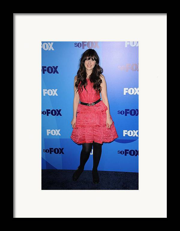 Zooey Deschanel Framed Print featuring the photograph Zooey Deschanel At Arrivals For Fox by Everett