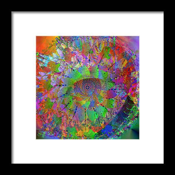 Mandala Framed Print featuring the digital art 2012-10-26-10c by Peter Shor