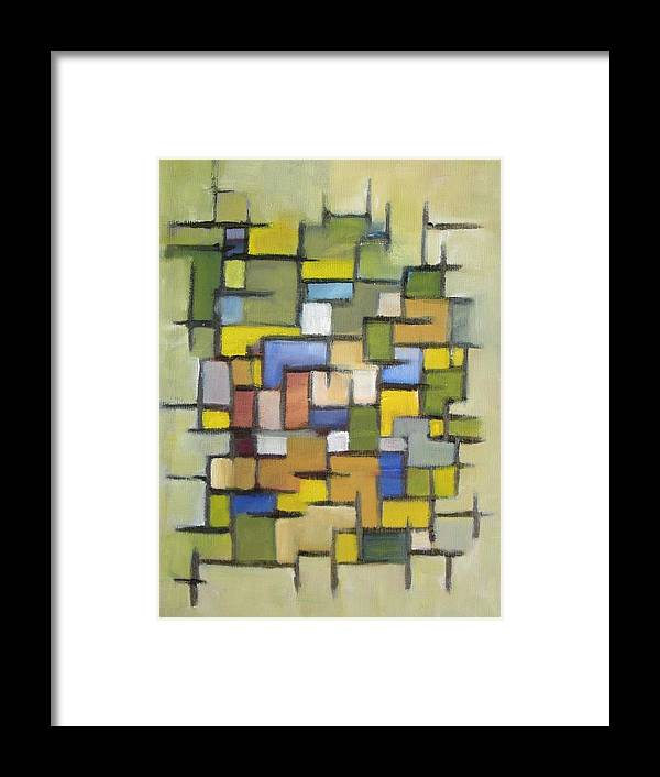 Abstract Framed Print featuring the painting 2012 Abstract Line Series Xx by Patricia Cleasby