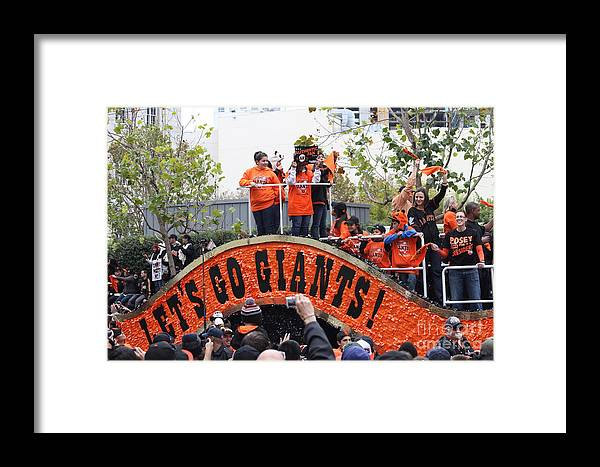 World Series Champions Framed Print featuring the photograph 2012 San Francisco Giants World Series Champions Parade - Dpp0004 by Wingsdomain Art and Photography