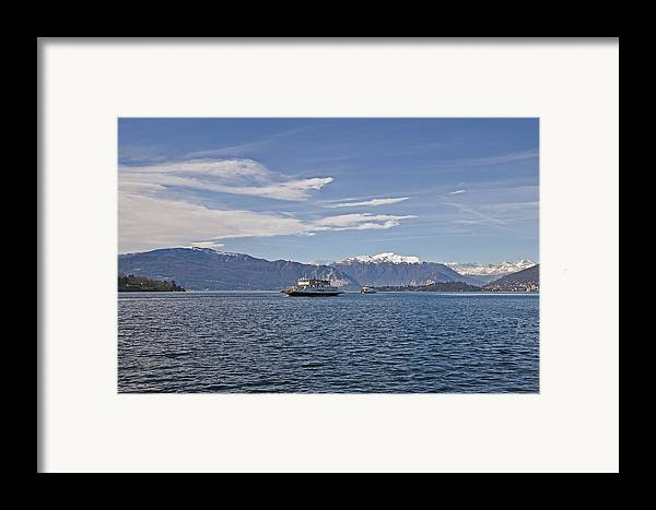 Lago Maggiore Framed Print featuring the photograph Lake Maggiore by Joana Kruse