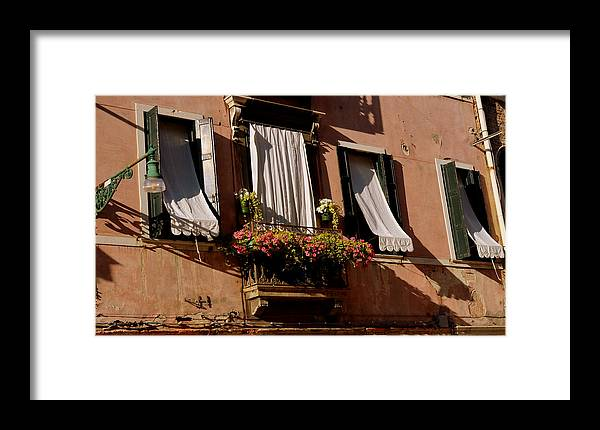 Windows Framed Print featuring the photograph Venice by Barbara Walsh