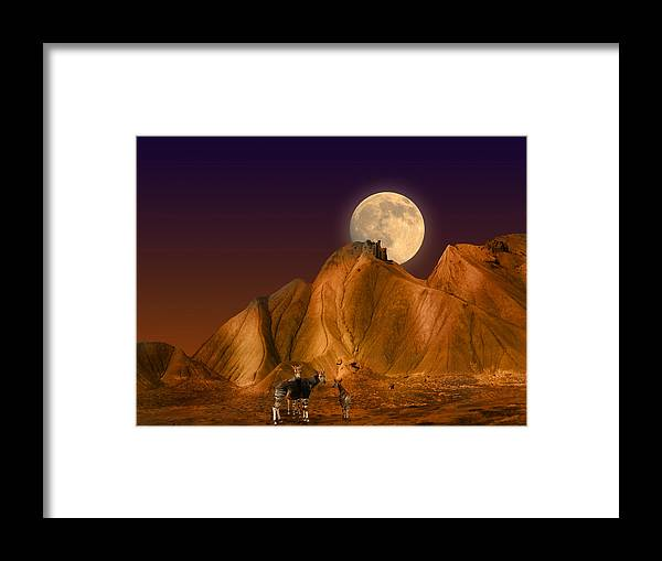 Moon Framed Print featuring the photograph 2206 by Peter Holme III