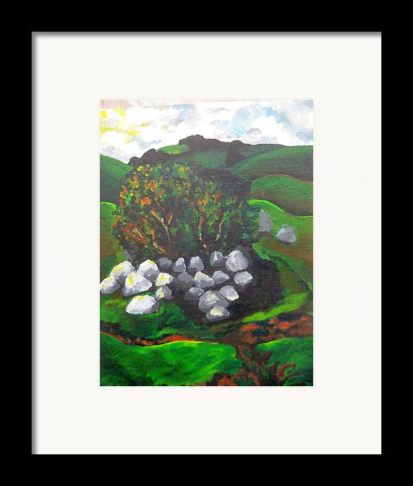 Spring Framed Print featuring the painting Untitled by Iris Gill