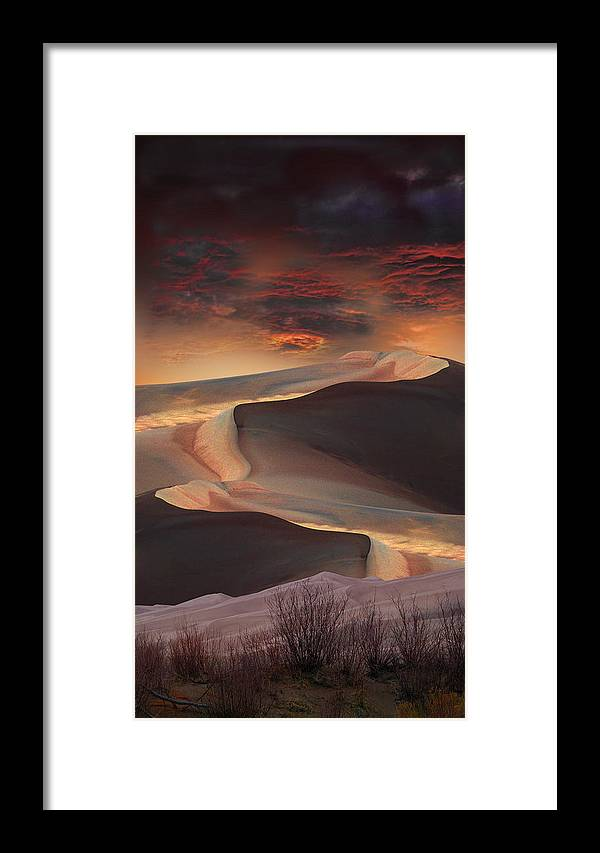 Sand Dunes Framed Print featuring the photograph 2339 by Peter Holme III