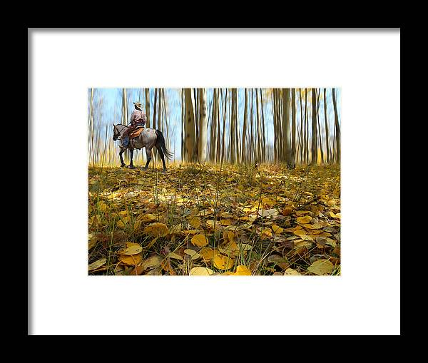 Cowboy Framed Print featuring the photograph 2428 by Peter Holme III