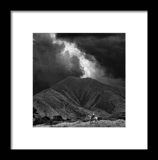 Cowboy Framed Print featuring the photograph 2434 by Peter Holme III