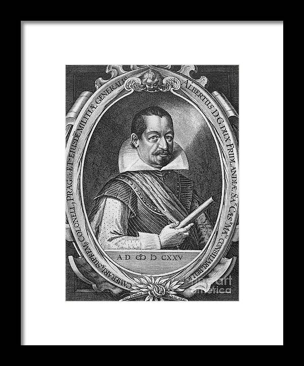 16th Century Framed Print featuring the photograph Albrecht Von Wallenstein by Granger