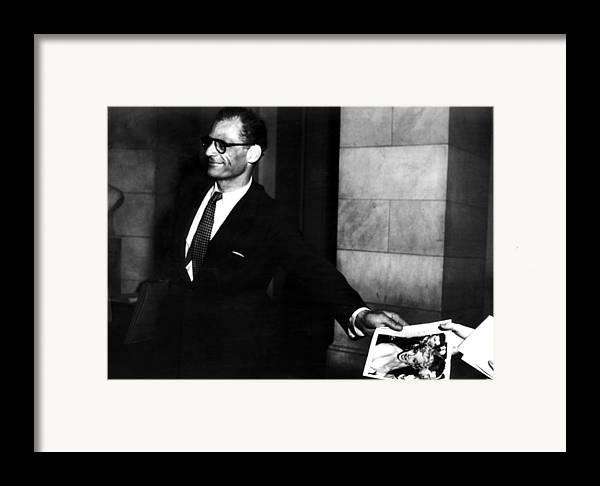 Framed Print featuring the photograph Arthur Miller, 1915-2005, American by Everett