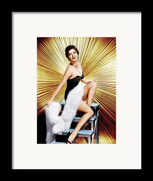 1950s Portraits Framed Print featuring the photograph Ava Gardner, Ca. 1950s by Everett