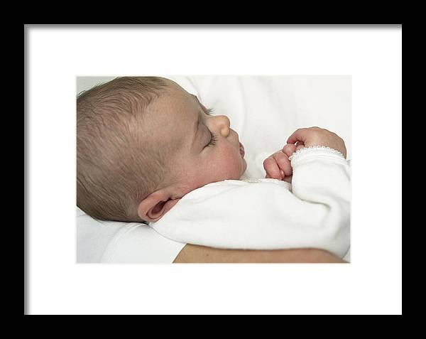 Human Framed Print featuring the photograph Baby Girl by Ian Boddy
