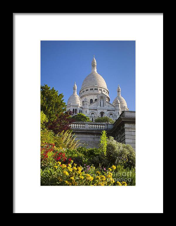 Architectural Framed Print featuring the photograph Basilique Du Sacre Coeur by Brian Jannsen