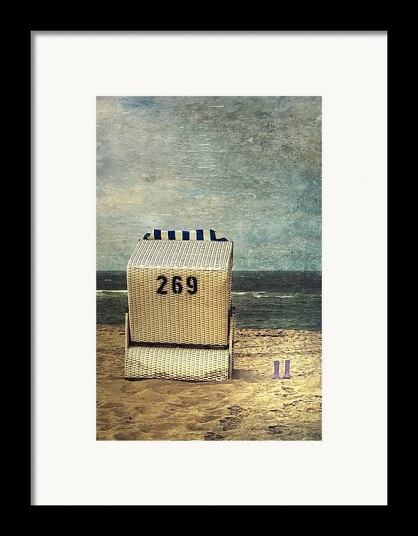 Beach Chair Framed Print featuring the photograph Beach Chair by Joana Kruse