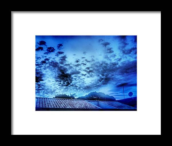 Sky Framed Print featuring the photograph Blue by Beto Machado