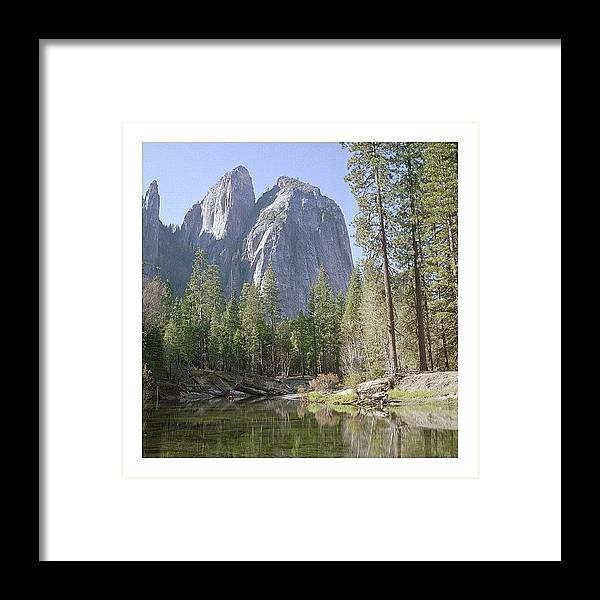 Europe Framed Print featuring the photograph 3 Brothers. Yosemite by Randy Lemoine