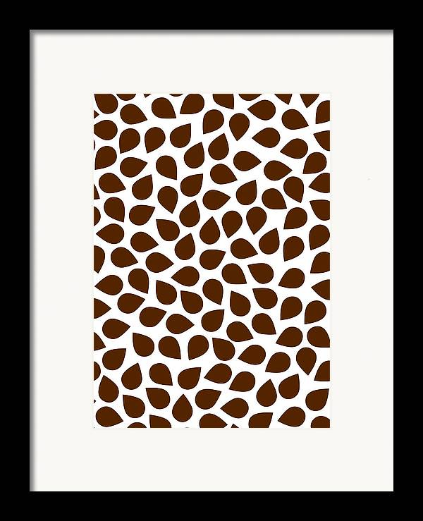 Brown Framed Print featuring the painting Brown Abstract by Frank Tschakert