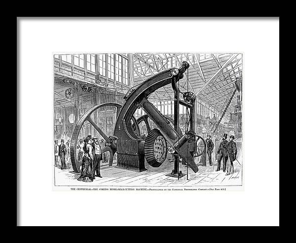 1876 Framed Print featuring the photograph Centennial Fair, 1876 by Granger