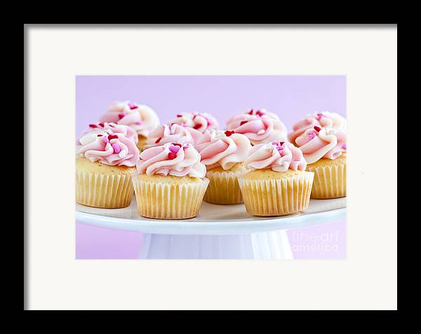 Cupcakes Framed Print featuring the photograph Cupcakes by Elena Elisseeva
