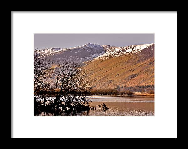 Lake Framed Print featuring the photograph Derwent Water - Lake District. by Trevor Kersley