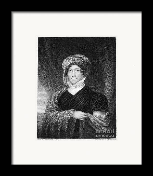 1836 Framed Print featuring the photograph Dolley Madison (1768-1849) by Granger