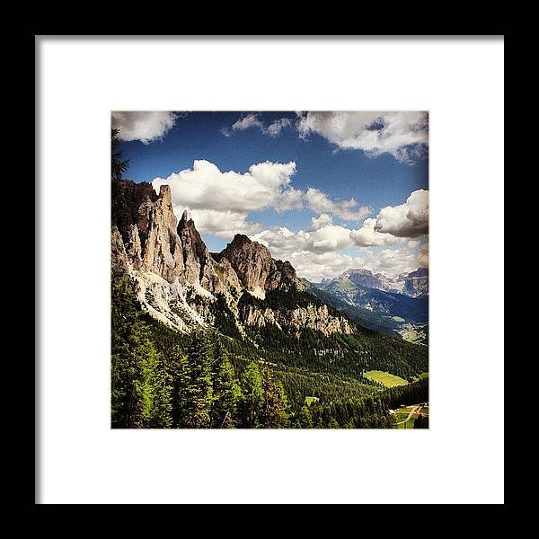 Mountain Framed Print featuring the photograph Dolomites by Luisa Azzolini