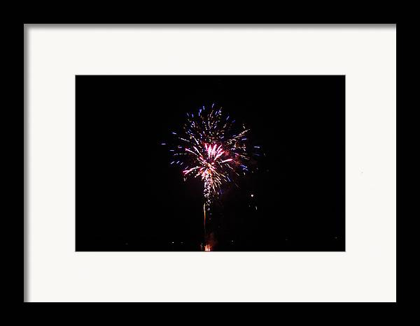 Firework Framed Print featuring the photograph Fireworks by Robbie Basquez