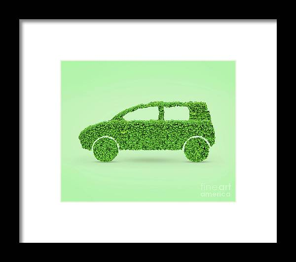 Green Car Framed Print featuring the photograph Green Car by Oleksiy Maksymenko