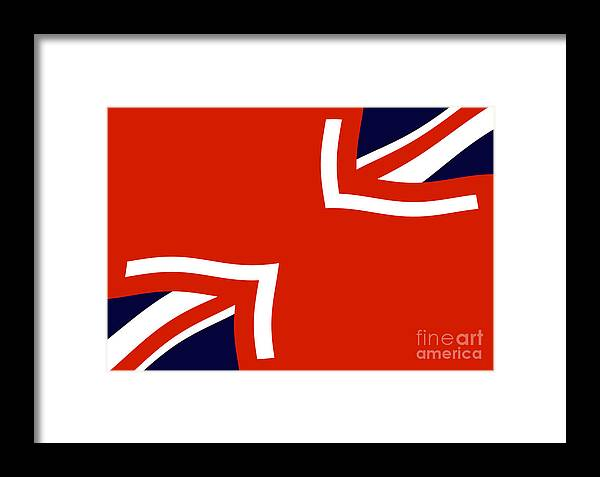 A Series Of Works Based On The Union Jack Flag. Framed Print featuring the digital art Jax by John Albury