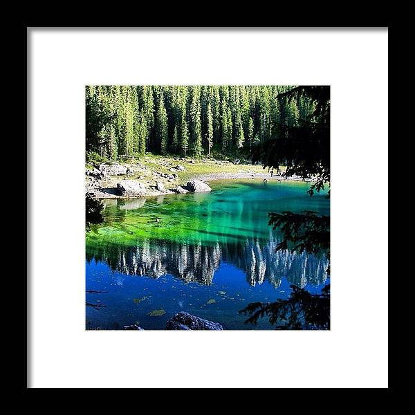 Beautiful Framed Print featuring the photograph Lake Of Carezza by Luisa Azzolini