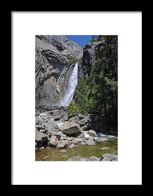 Falls Framed Print featuring the photograph Lower Yosemite Falls by Lynn Bauer