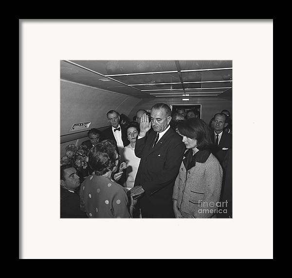 1963 Framed Print featuring the photograph Lyndon Baines Johnson by Granger