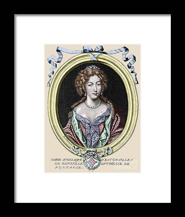 1687 Framed Print featuring the photograph Marie-ang�lique De Rousille by Granger