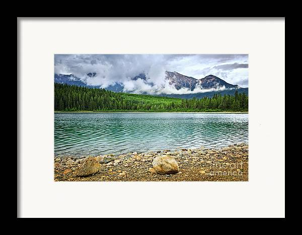 Lake Framed Print featuring the photograph Mountain Lake In Jasper National Park by Elena Elisseeva