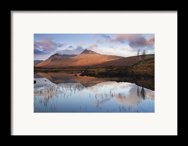 Highland Framed Print featuring the photograph Rannoch Moor At Sunrise by Gabor Pozsgai