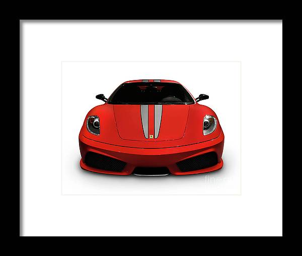 Ferrari Framed Print featuring the photograph Red Ferrari F430 Scuderia by Oleksiy Maksymenko