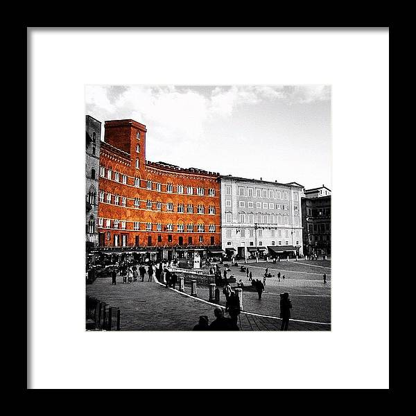 Beautiful Framed Print featuring the photograph Siena by Luisa Azzolini