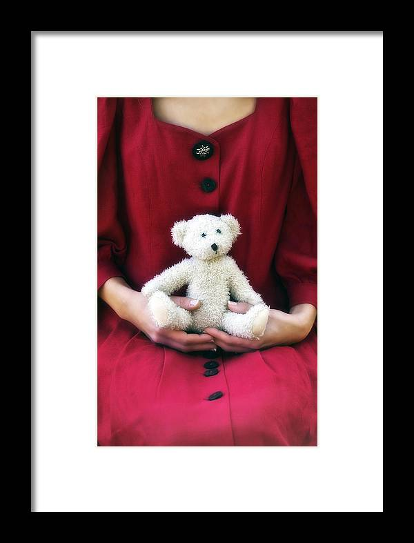 Woman Framed Print featuring the photograph Teddy Bear by Joana Kruse