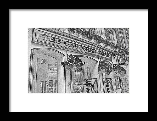 Pub Framed Print featuring the digital art The Crutched Friar Public House by David Pyatt